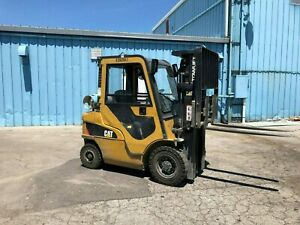 2013 Caterillar 2p4000 Forklift W cab Solid Pneumatic Tire