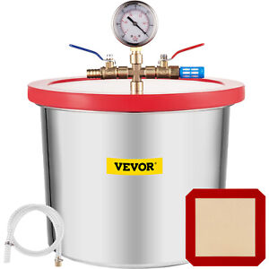 2 Gallon Vacuum Chamber Stainless Steel Kit Stabilize Silicone Gasket