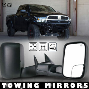 Fit 98 01 Dodge Ram 1500 98 02 2500 3500 Power Heated Flip Up Tow Mirrors Lh Rh