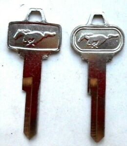 2 Vintage Ford Mustang Pony Key Blanks 1964 1965 Made In Usa