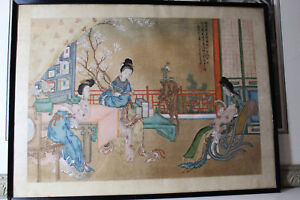 Only 1100 Chinese Silk Painting Antique Late19th Century And Early 20th Century
