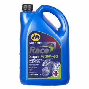 Morris Lubricants Super 4 10w 40 4litres Motorcycle Engine Oil