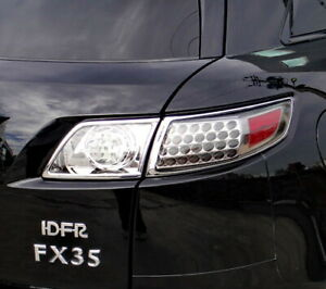 Idfr Infiniti 2003 2008 Fx35 Chrome Frame Bezel For Tail Lights