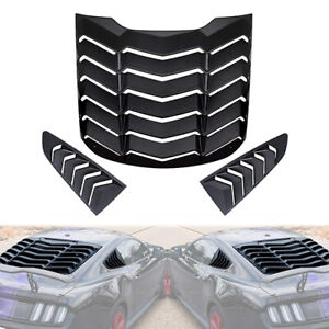 Rear Window Louvers And Side Window Scoop Louvers For 2015 2019 Ford Mustang