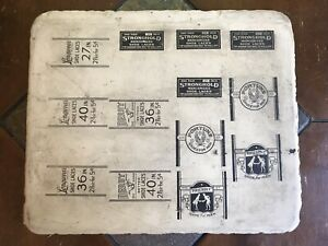 Antique Lithographic Stone Printing Block Fortune Shoes For Men Shoelaces