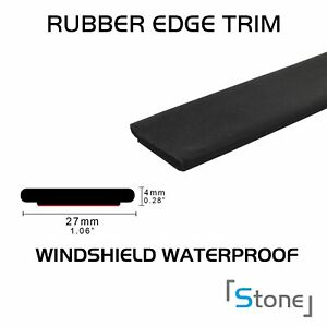 12ft Rubber Seal Edge Trim Adhesive Windshield Window Sunroofstrip Car Parts