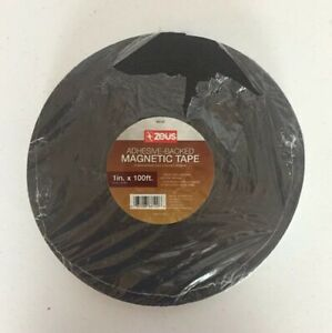 Zeus Adhesive backed Magnetic Tape 1 In X 100 Ft Roll