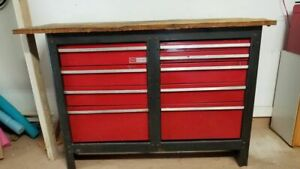 Craftsman 9 Drawer 51 Wide X 34 Tall Tool Box Chest Work Bench