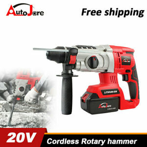 New Cordless Rotary Hammer Drill Brushless Sds Plus Lithium ion Li ion Battery