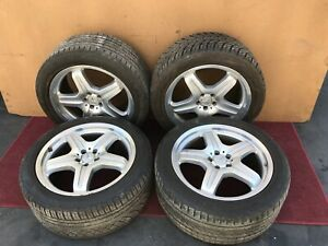 Mercedes W164 Ml63 Ml550 Amg Wheels Wheel Rim Tire Set Assembly 20 Oem