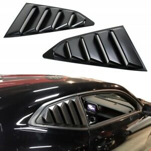 For 2016 2019 Chevy Camaro Matte Black Finish Rear Window Quarter Louver Covers