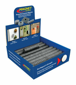 Master Magnetics 197 In Ceramic Disc Magnets 0 7 Lb Pull 3 4 Mgoe 500 Pc