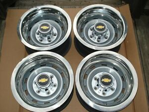 73 87chevy Truck 6 Lug 15x8 Gm Oem Truck Rally With New Caps Rings