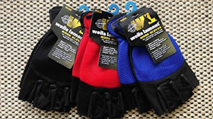 12 Pair Wells Lamont 836l Mens Large Fingerless Stretch Utility Gloves