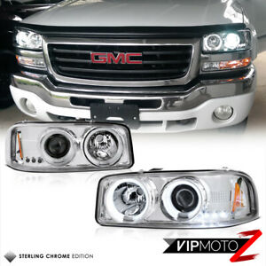 2001 2006 Gmc Yukon Denali Euro Chrome Halo Projector Ccfl Headlight Left right