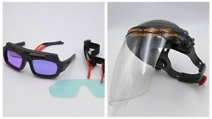 Solar Powered Auto Darkening Welding Glasses Glass Mask Helmet Goggle
