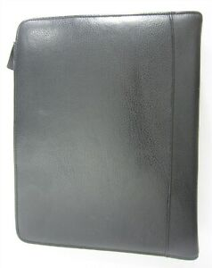 Classic Black Leather Franklin Covey Day Planner Organizer Zip Binder 7 Rings