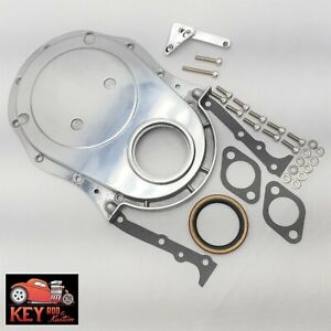 Big Block Chevy Polished Aluminum Timing Cover Timing Tab Bbc 454 396 427 402