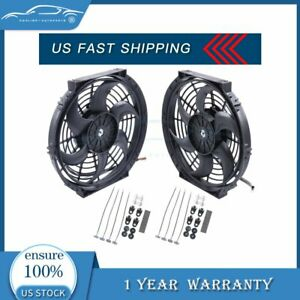 10 Inch Electric Radiator Cooling Fan For Acura Integra Rsx Tl 12v 3000cfm 2x