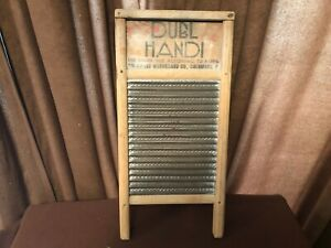Vintage Dubl Handi Washboard Columbus Washboard Co All Original 17 X 8 1 2 Size