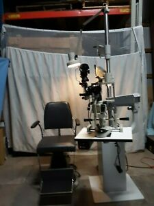 Bausch Lomb Slit Lamp Keratometer Chair With System Very Good Condition