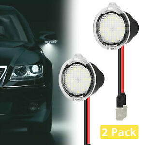2x Led Rearview Mirror Puddle Light For Ford F 150 Focus Edge Lincoln Ls Mercury
