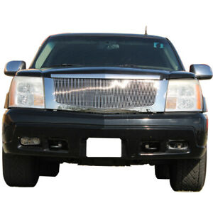 Fit For 2002 2006 Cadillac Escalade Chrome Aluminum Billet Grille Shell