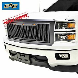 Eag Grille Replacement Abs Led Light Grill Fit 2014 2015 Chevy Silverado 1500