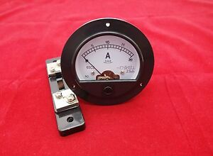 Dc 0 20a Round Analog Ammeter Panel Amp Current Meter Dia 90mm With Shunt