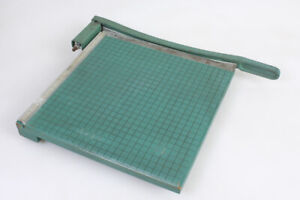 Vintage Premier Brand Photo Materials Co Paper Cutter 13 x13 Guillotine Style