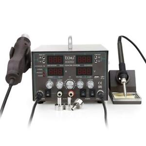 Baku 8305d 3 in 1 Digital Soldering Station With Heat Gun And Power Supply 110v