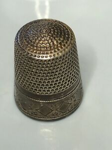 Thimble Sterling Silver Simons Brothers With Monogram Eh