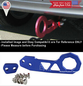 Aluminum Anodized Billet Blue Rear Bumper Tow Hook Towing Kit For Toyota Scion