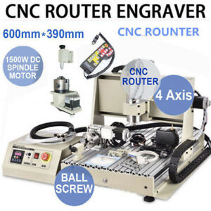 4 Axis 1 5kw 6040 Router Engraver Pcb Drilling milling Machine 3d Cutter Vfd rc