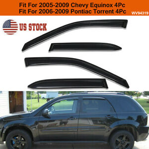 For 05 09 Chevy Equinox Pontiac Torrent Smoke Window Visor Rain Guard Vent Shade