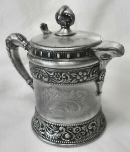 Gorgeous Atq Wilcox Silverplate Co Ornate Embossed Creamer Syrup Jug Pitcher