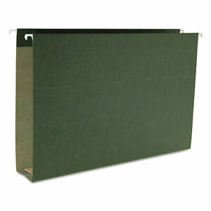 Smead Two Inch Capacity Box Bottom Hanging File Folders Legal Green 25 box 64359