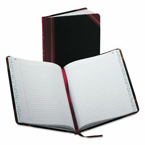 Boorum Pease Record account Book Record Rule Black red 150 Pages 9 5 8 X 7 5 8