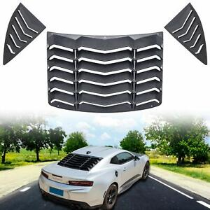 Rear And Side Quarter Window Louvers Sun Shade For 2010 2015 Chevrolet Camaro