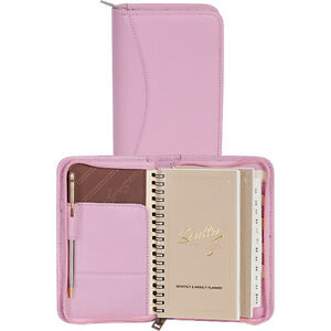 Scully Zip Pocket Planner Pink Business Accessorie New