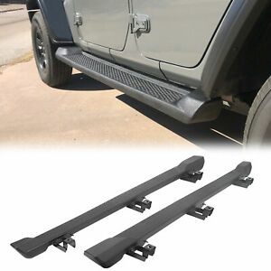 For 2018 2019 Jeep Wrangler Jl 4dr Nerf Bar Side Step Running Board Rail Abs