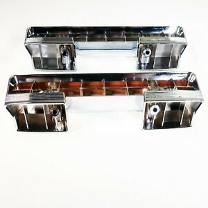 1961 1967 Buick Front Arm Rest Base Chrome Plated Pair Lesabre Invicta Special