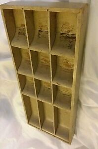 Antique Country Store Heavy Painted Wood Money Change Drawer Pr
