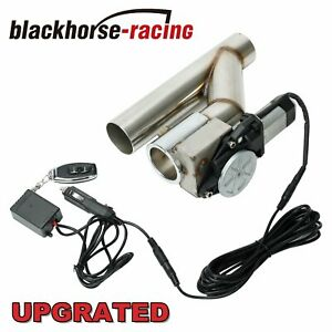 2 Electric Exhaust Catback Downpipe Cutout Valve System W Switch Control Kit