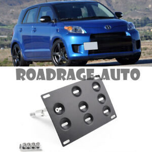 For 08 14 Scion Xd Bumper Tow Hook Hole Cover License Plate Bracket Mount Holder