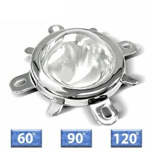 Led Lens Optical Glass 60 120 Degree Reflector Collimator Fixed Bracket 10 100w