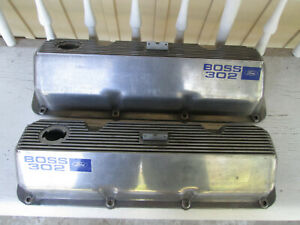 1970 Mustang Cougar Boss 302 Original Finned Valve Covers With Drippers Boss 351