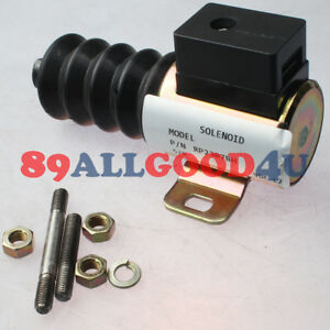 12v Push pull Dc Stop Solenoid Rp 2307bh 40700092 For Murphy