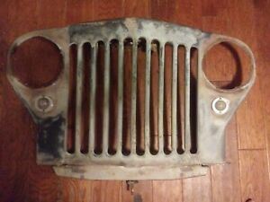 Original Willys Overland Jeep truck Grille Not A Reproduction Grill 1948