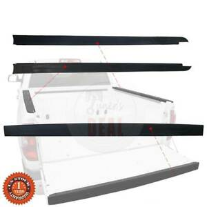 Short Bed Rail Caps Panel Tailgate Top Protector Fits Tundra 14 Up Short Bed